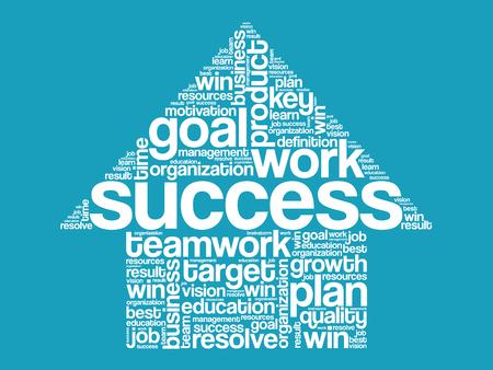 words cloud: Success Arrow Words Cloud, business vector concept