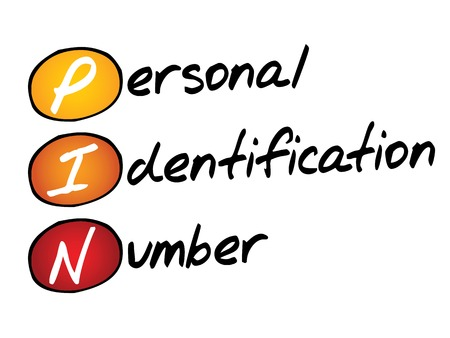 stored: Personal Identification Number (PIN), business concept acronym Illustration