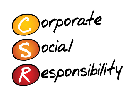 responsibility: Corporate Social Responsibility (CSR), business concept acronym