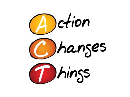 Actie Changes Things (ACT), business concept acroniem