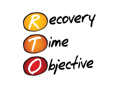 Recovery Time Objective (RTO), business concept acronym Vector