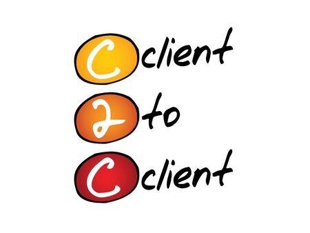 b2e: Client To Client (c2c), business concept acronym