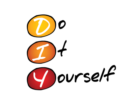 do it: Do It Yourself (DIY), business concept acronym Illustration