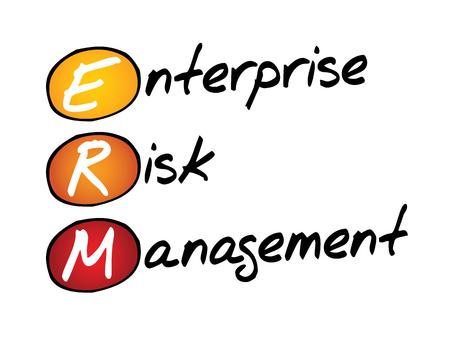 erm: Enterprise Risk Management (ERM), business concept acronym Illustration