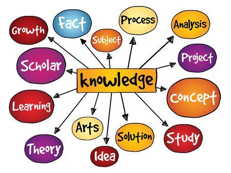 savant: Knowledge mind map, business concept Illustration