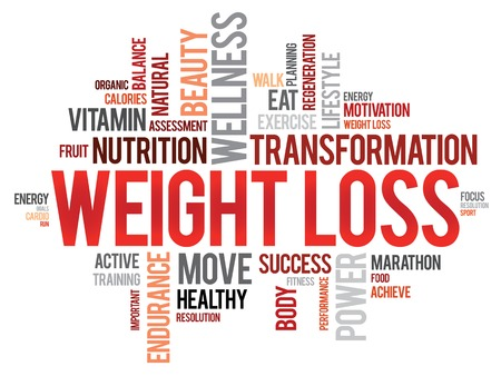 WEIGHT LOSS word cloud, fitness, sport, health concept Vector