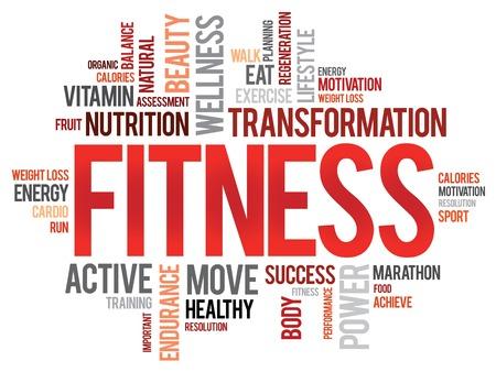 mujeres fitness: IDONEIDAD nube de palabras, el deporte, el concepto de salud