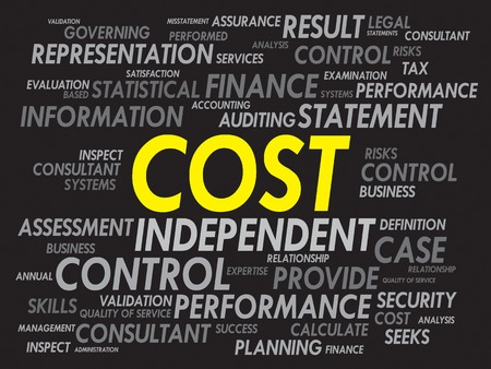 compensate: COST word cloud, business concept