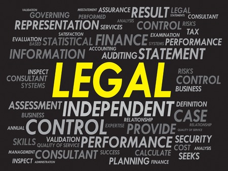 tax attorney: LEGAL word cloud, business concept