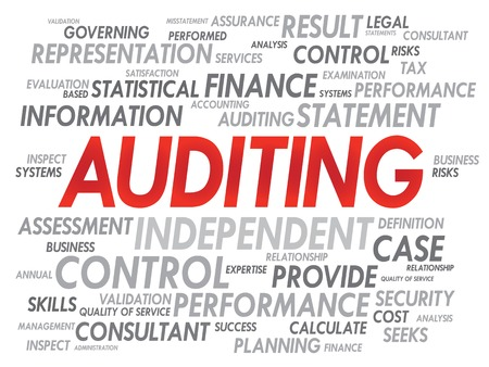 AUDITING word cloud, business concept Vector