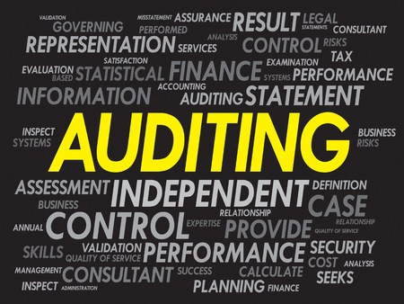 auditing: AUDITING word cloud, business concept