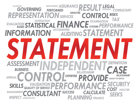 ifade: STATEMENT word cloud, business concept