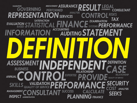 misstatement: DEFINITION word cloud, business concept