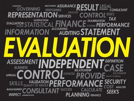 EVALUATION word cloud, business concept Vector