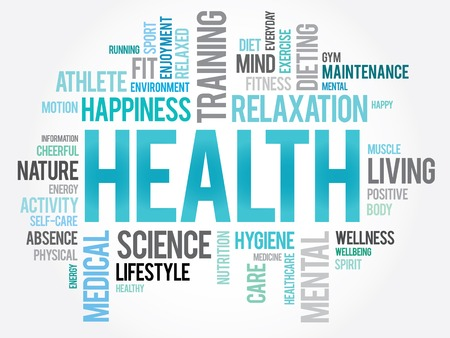 word: HEALTH word cloud concept