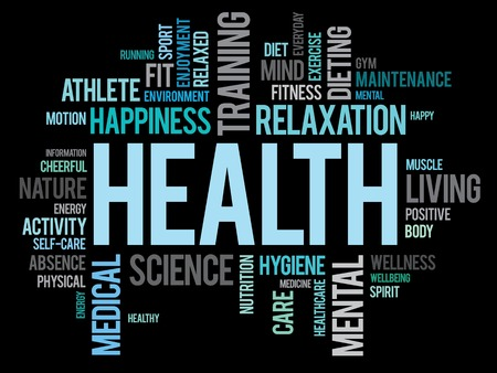 wellness background: HEALTH word cloud concept