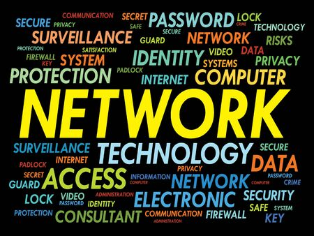 trojanhorse: NETWORK word cloud, business concept Illustration