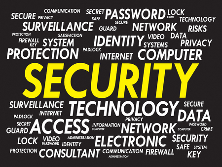 SECURITY word cloud, business concept Vector