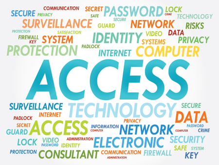 synchronizing: ACCESS word cloud, security concept
