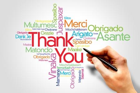 merci: Merci Word Cloud, toutes les langues Banque d'images
