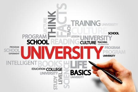 university word: UNIVERSITY word cloud, business concept