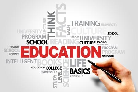educação: EDUCAÇÃO palavra nuvem conceito