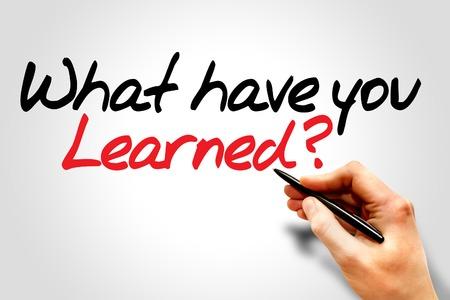 lernte: Hand schreiben Was haben Sie gelernt ?, Gesch�ftskonzept