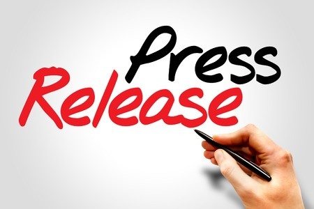 article of clothing: Hand writing Press Release, business concept Stock Photo