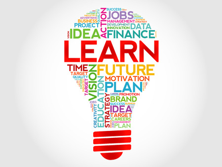 LEARN bulb Vettoriali