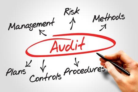 cloud based: Audit diagram process, business concept
