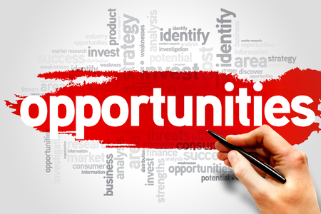 business opportunity: Opportunities word cloud, business concept