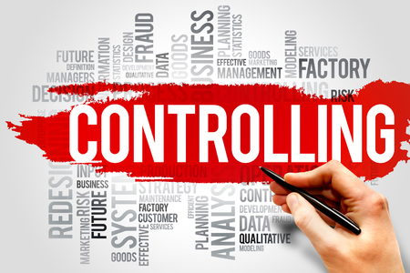 controlling: Controlling word cloud, business concept Stock Photo