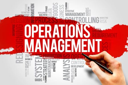 overseeing: Operations Management word cloud, business concept