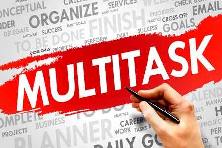 multitask: MULTITASK word cloud, business concept Stock Photo