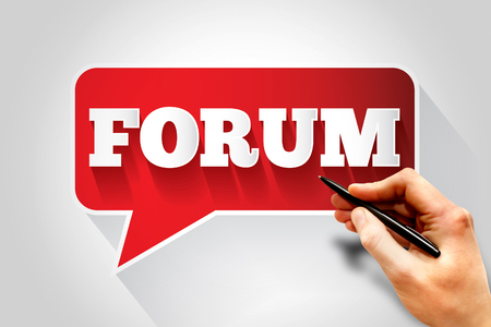 FORUM text message bubble, business concept photo