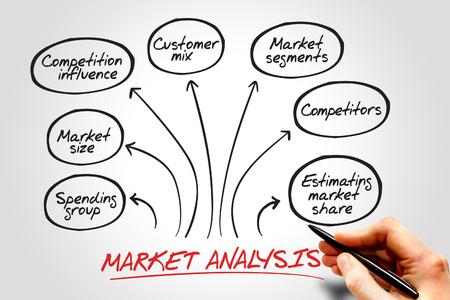 estimating: Market analysis diagram, business concept