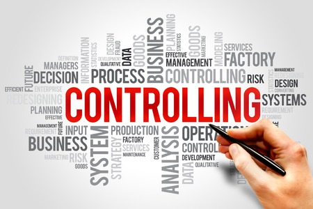 prioritization: Controlling word cloud, business concept Stock Photo