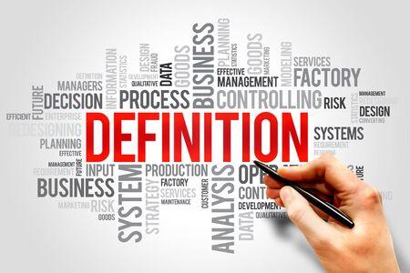 definicion: DEFINICI�N nube de la palabra, concepto de negocio Foto de archivo