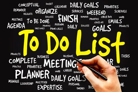 docket: TO DO LIST word cloud, business concept