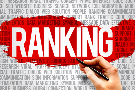 meta tags: Ranking word cloud, business concept