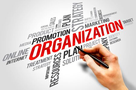 vend: ORGANIZATION word cloud, business concept