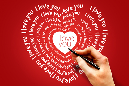 i love you heart: I love you heart, Valentines Day Greeting card
