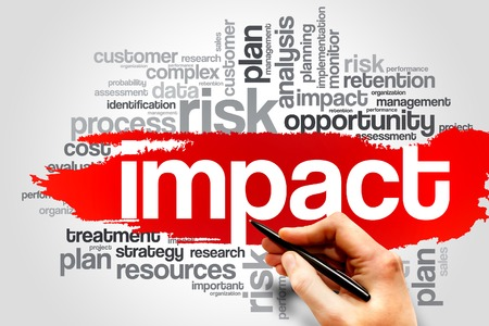 IMPACT word cloud, business concept Stock Photo - 37587156