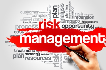 gestion documental: Gesti�n de Riesgos palabra nube, concepto de negocio