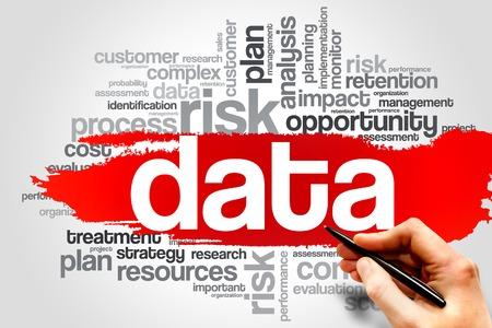 DATA woordwolk, business concept Stockfoto