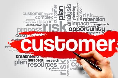 고객 단어 구름, 비즈니스 개념 스톡 콘텐츠