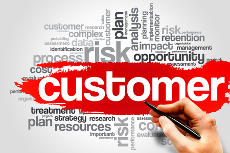 customer facing: Customer word cloud, business concept