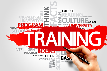 TRAINING word cloud, business concept Stock Photo