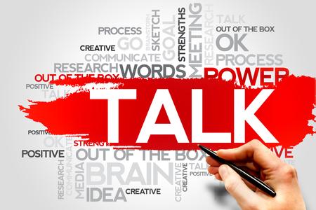 cogitate: TALK word cloud, business concept Stock Photo