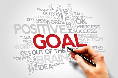words cloud: Goal words cloud, business concept